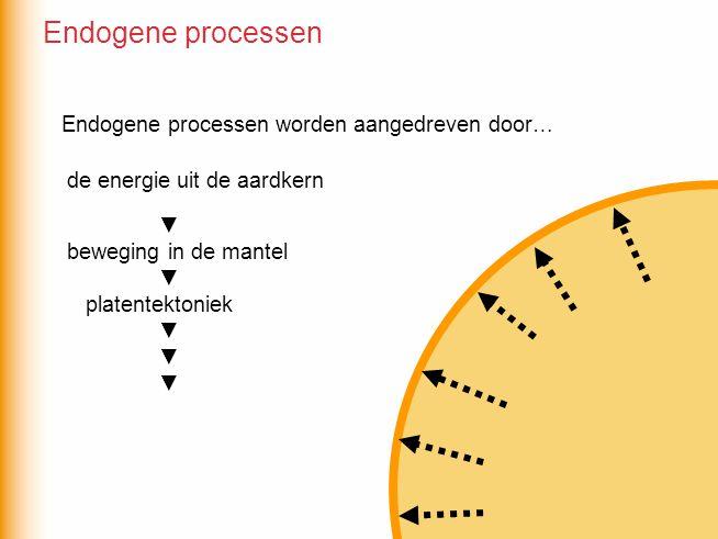 Endogene processen Endogene processen worden aangedreven door…