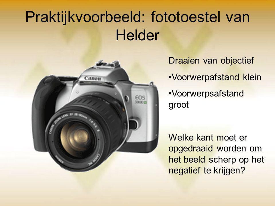 Praktijkvoorbeeld: fototoestel van Helder