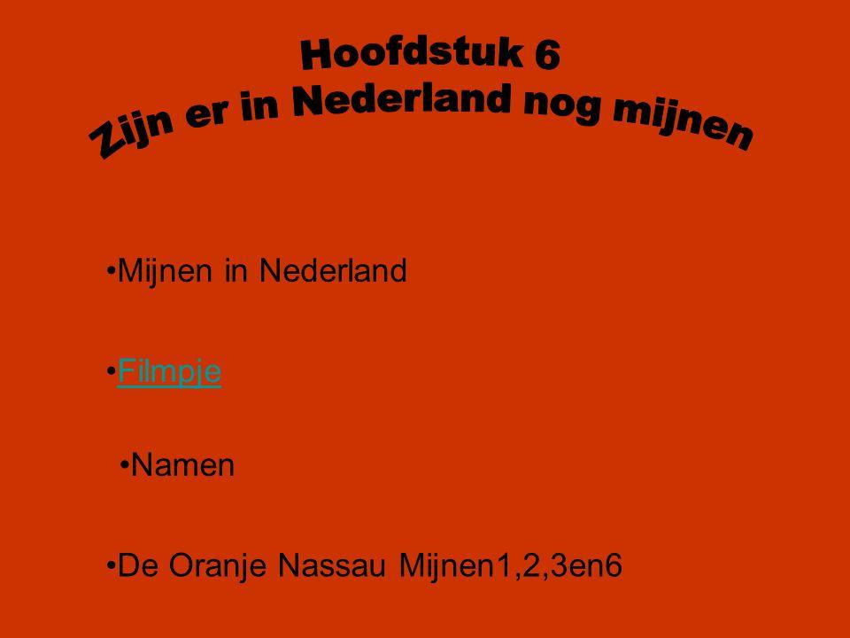 Zijn er in Nederland nog mijnen