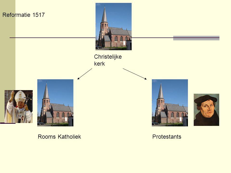 Reformatie 1517 Christelijke kerk Rooms Katholiek Protestants