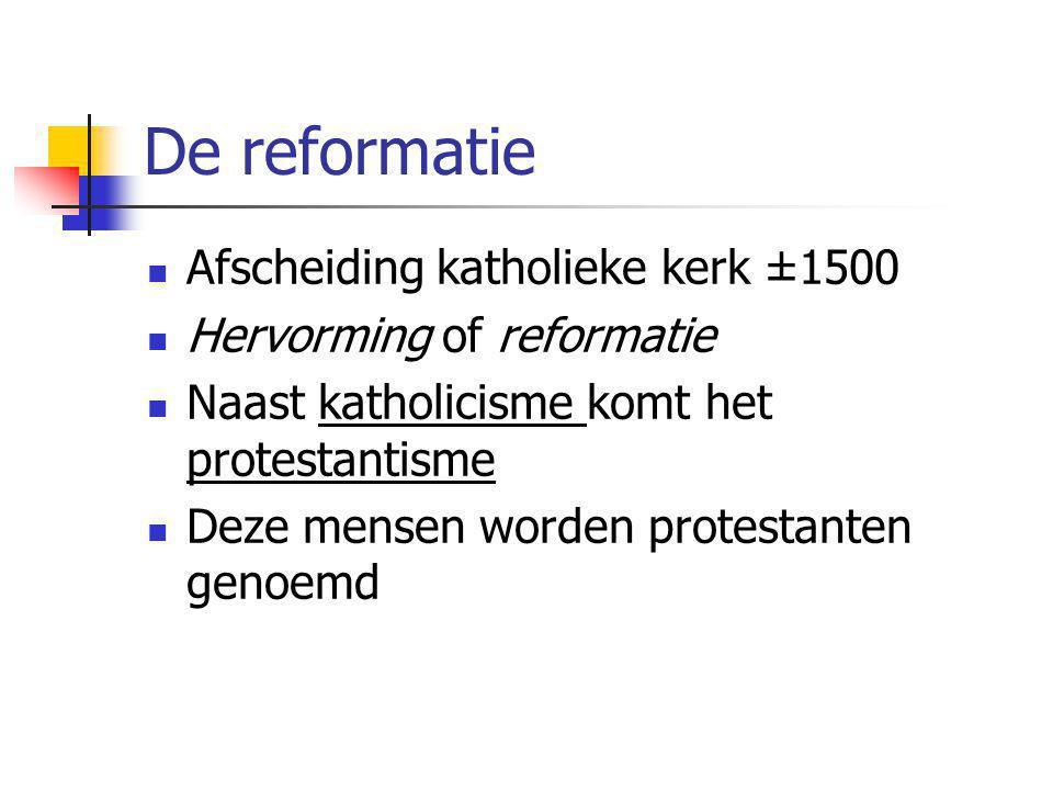 De reformatie Afscheiding katholieke kerk ±1500