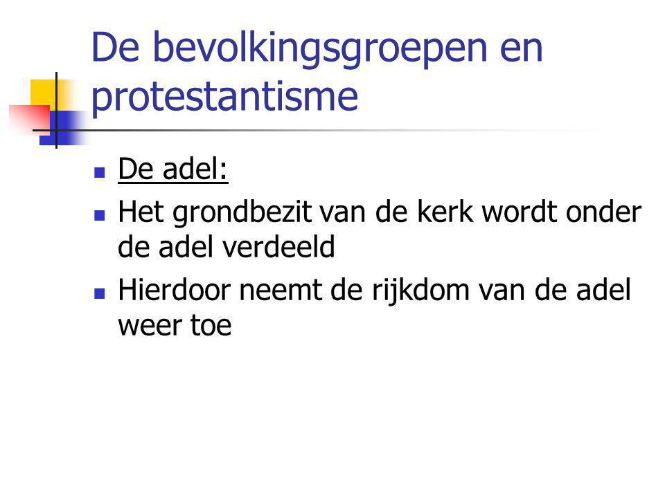 De bevolkingsgroepen en protestantisme