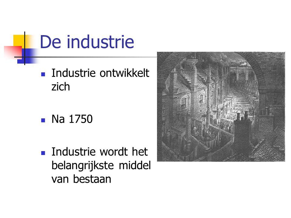 De industrie Industrie ontwikkelt zich Na 1750