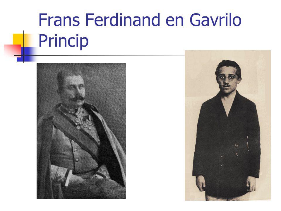 Frans Ferdinand en Gavrilo Princip