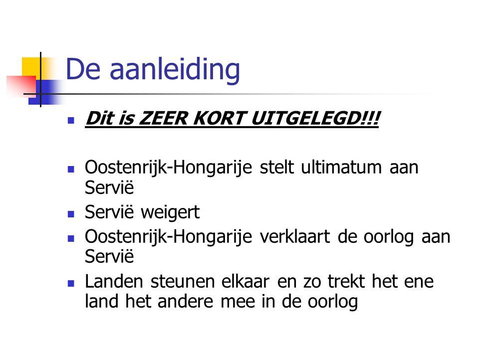 De aanleiding Dit is ZEER KORT UITGELEGD!!!