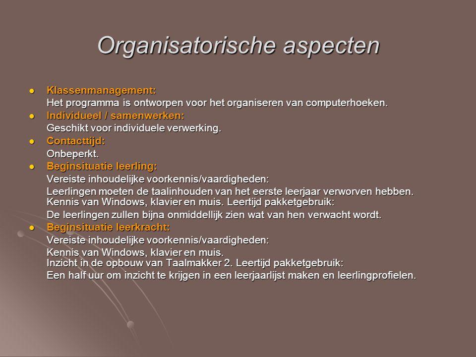 Organisatorische aspecten
