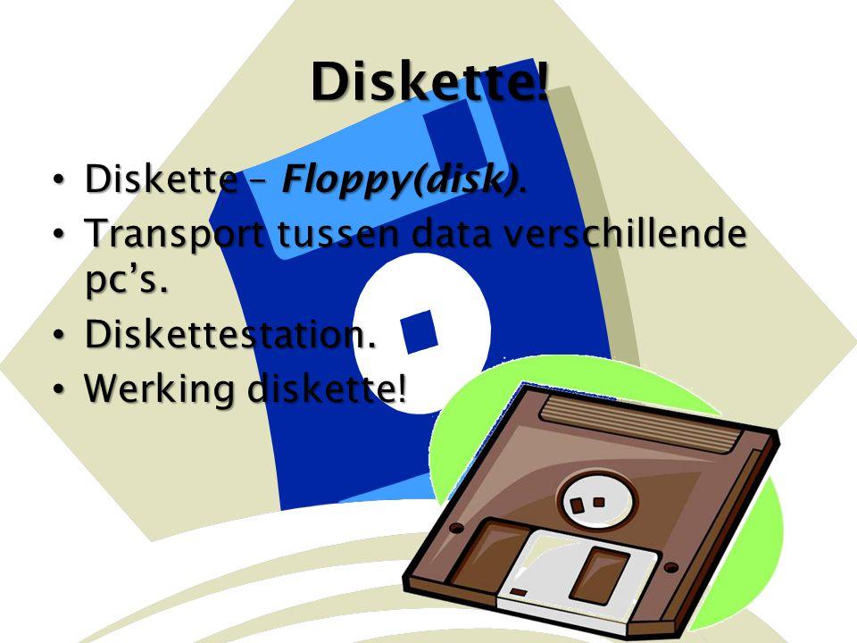 Diskette! Diskette – Floppy(disk).