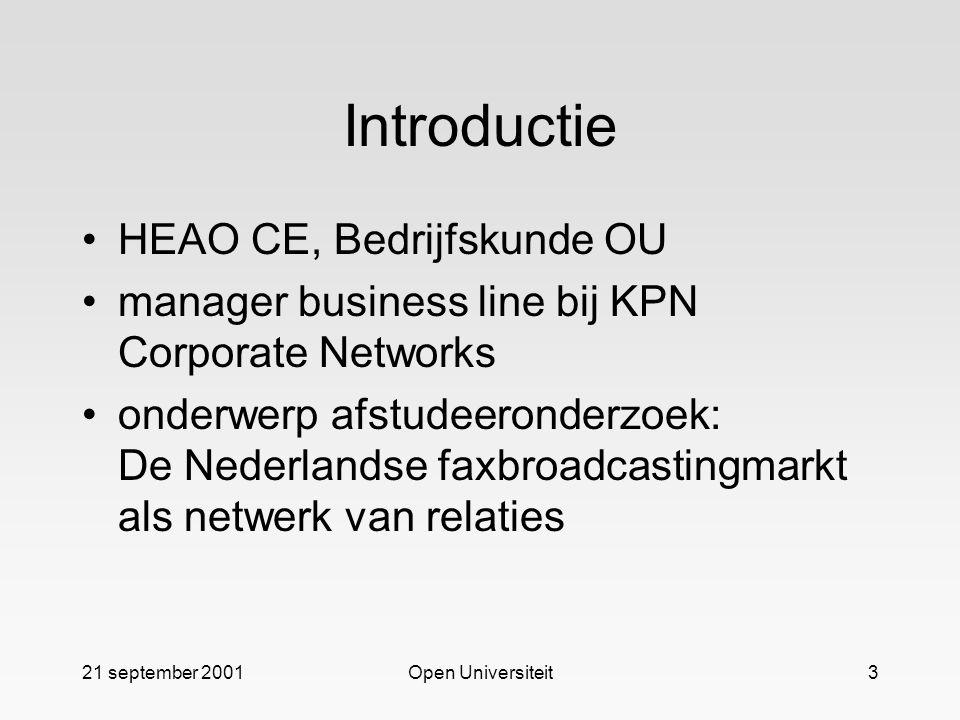 Introductie HEAO CE, Bedrijfskunde OU