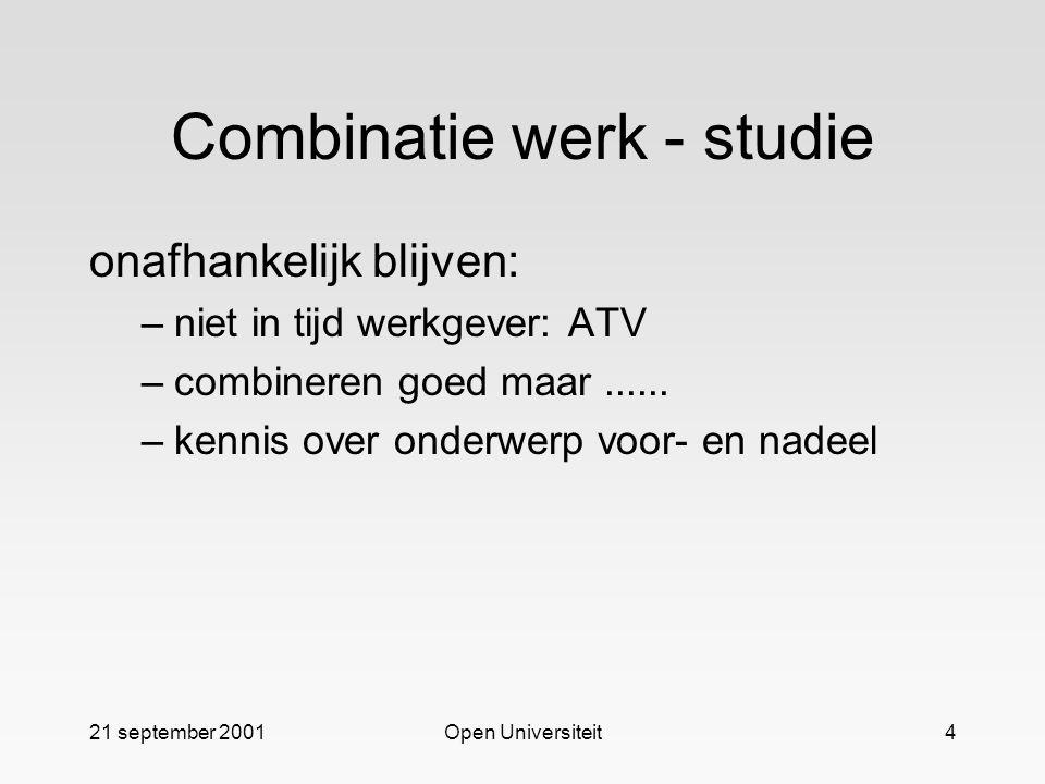 Combinatie werk - studie