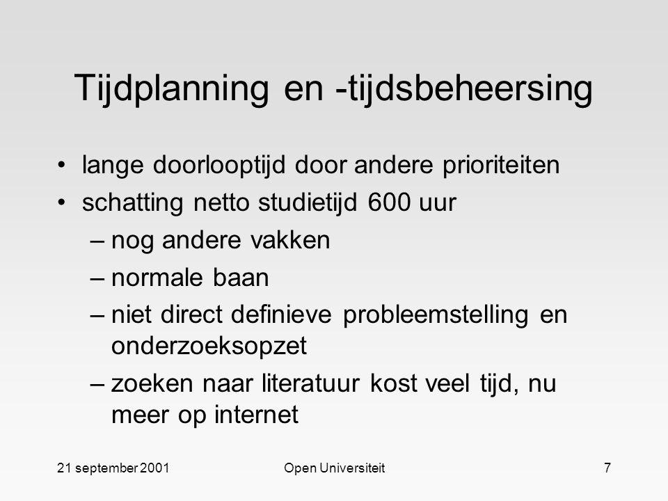 Tijdplanning en -tijdsbeheersing