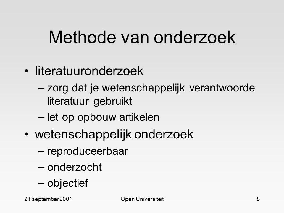 Methode van onderzoek literatuuronderzoek wetenschappelijk onderzoek