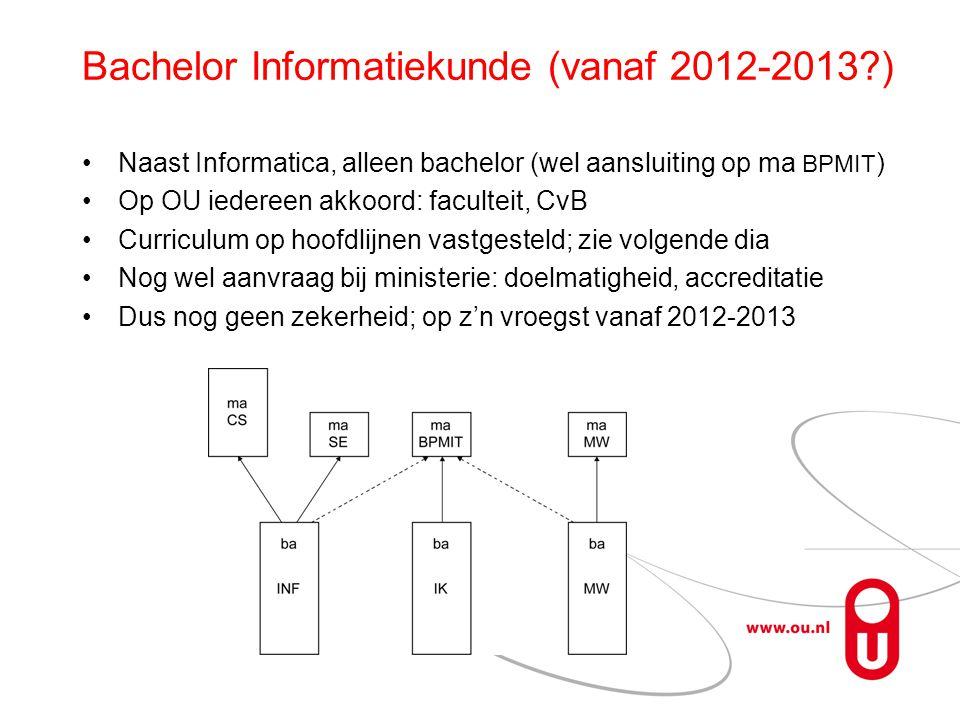 Bachelor Informatiekunde (vanaf 2012-2013 )