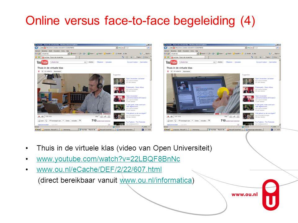 Online versus face-to-face begeleiding (4)