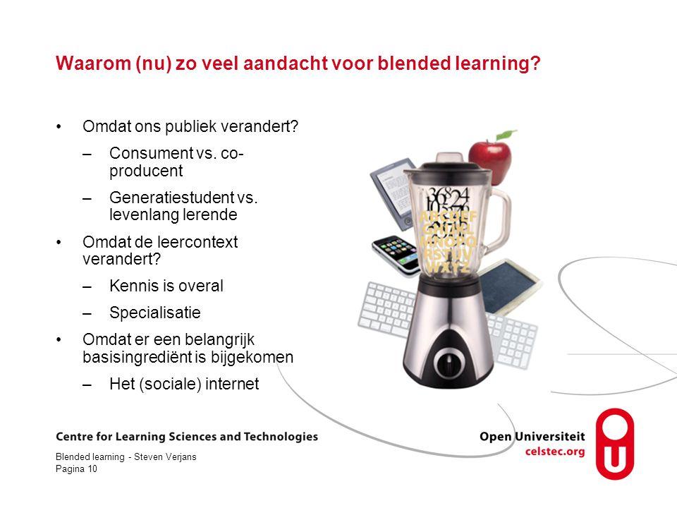 Waarom (nu) zo veel aandacht voor blended learning