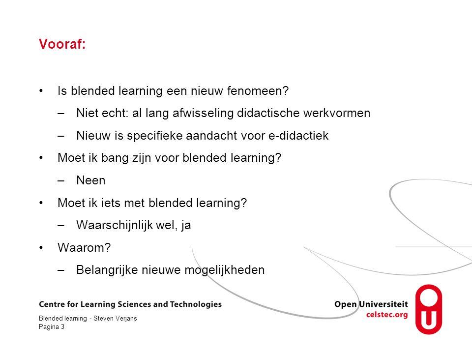 Vooraf: Is blended learning een nieuw fenomeen