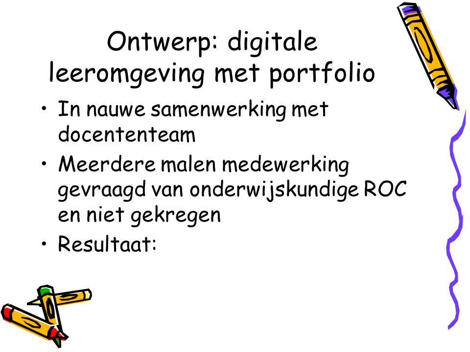 Ontwerp: digitale leeromgeving met portfolio