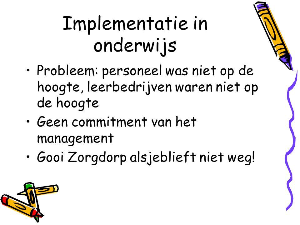 Implementatie in onderwijs