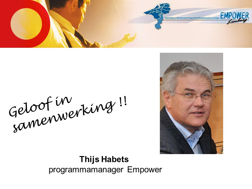Thijs Habets programmamanager Empower