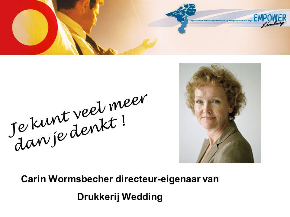 Carin Wormsbecher directeur-eigenaar van Drukkerij Wedding