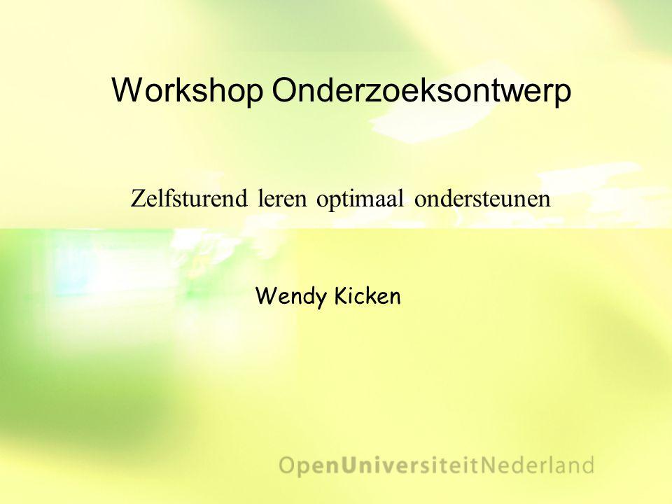 Workshop Onderzoeksontwerp