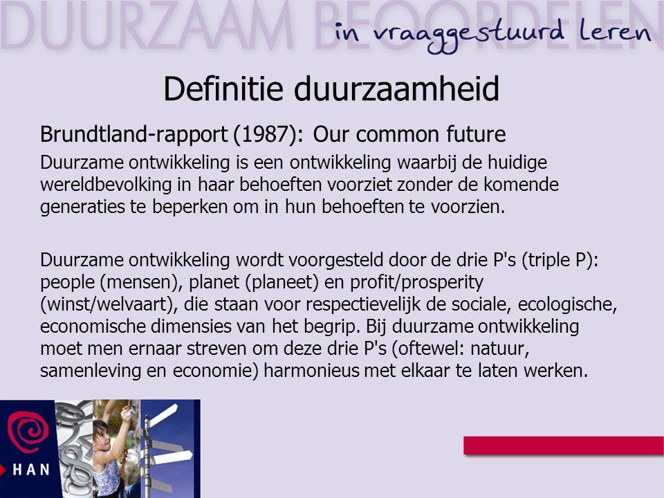 Definitie duurzaamheid