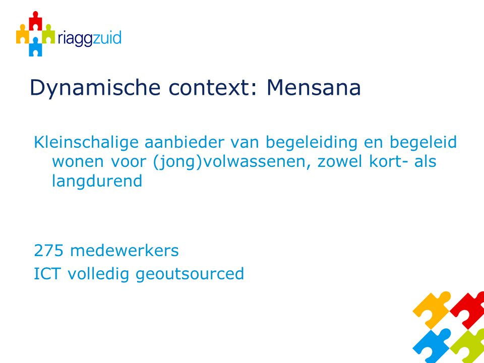 Dynamische context: Mensana