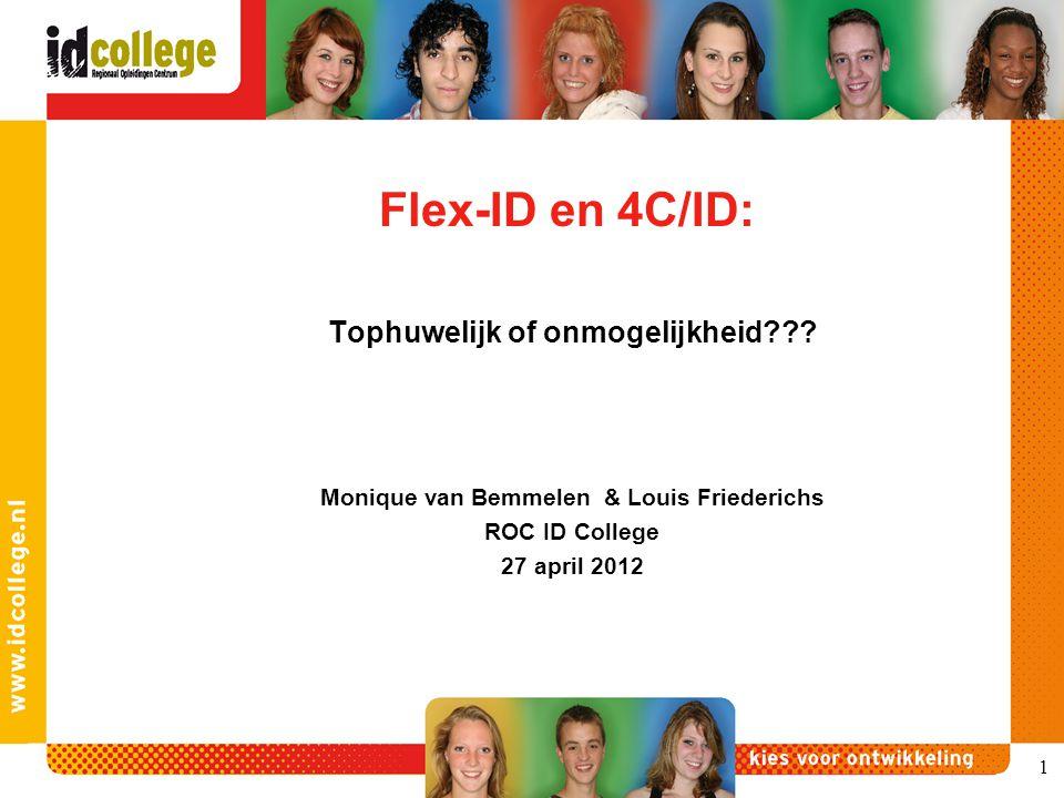 Flex-ID en 4C/ID: Tophuwelijk of onmogelijkheid