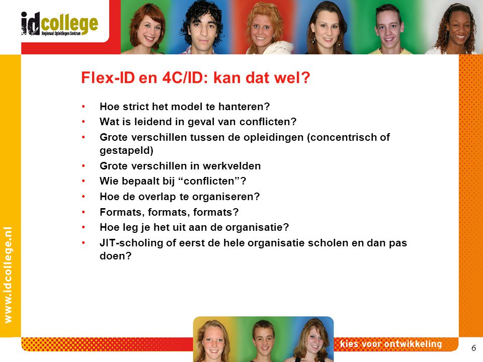 Flex-ID en 4C/ID: kan dat wel