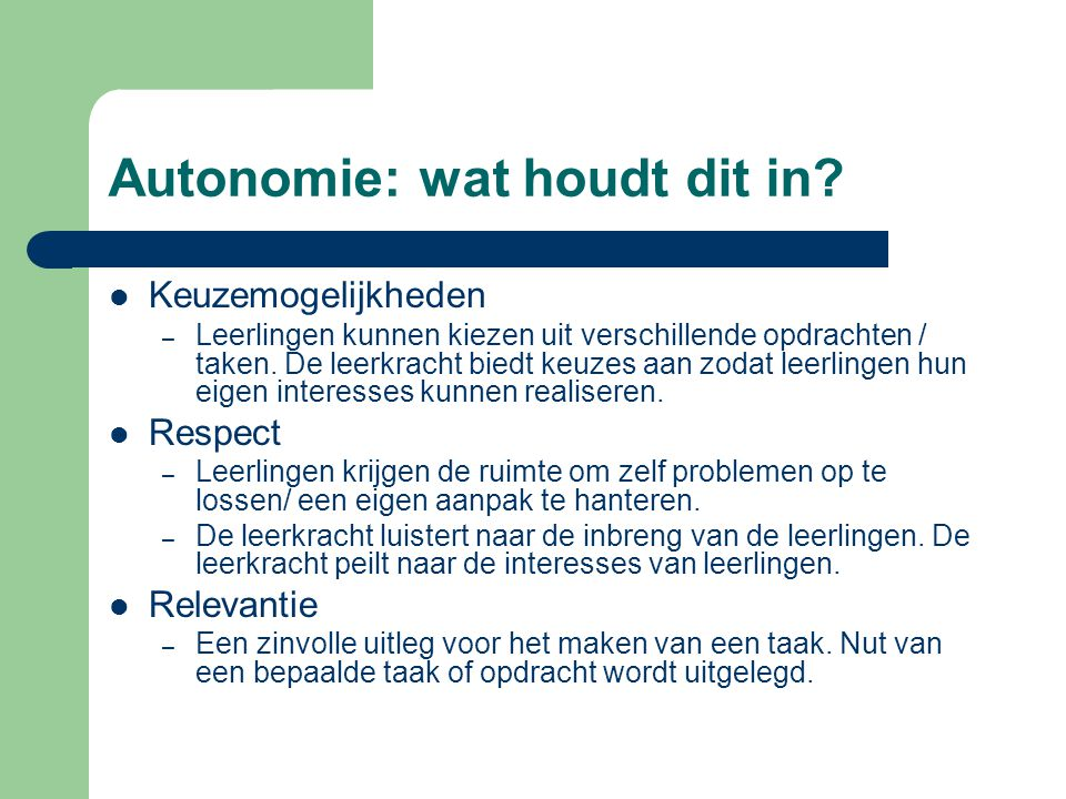 Autonomie: wat houdt dit in