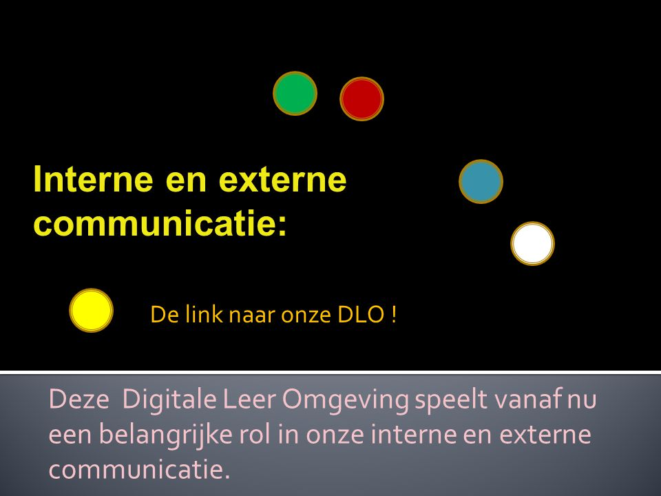 Interne en externe communicatie: