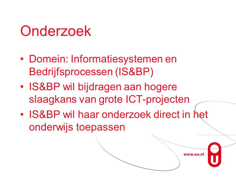 Onderzoek Domein: Informatiesystemen en Bedrijfsprocessen (IS&BP)