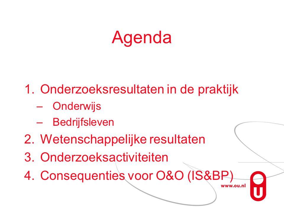 Agenda Onderzoeksresultaten in de praktijk