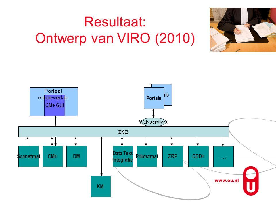 Resultaat: Ontwerp van VIRO (2010)