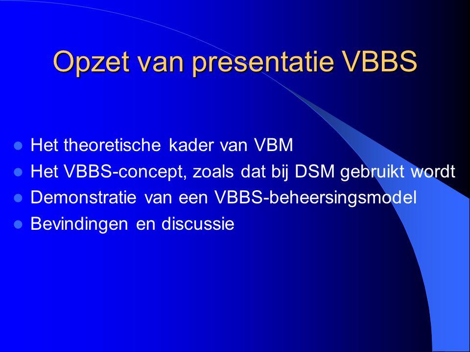Opzet van presentatie VBBS