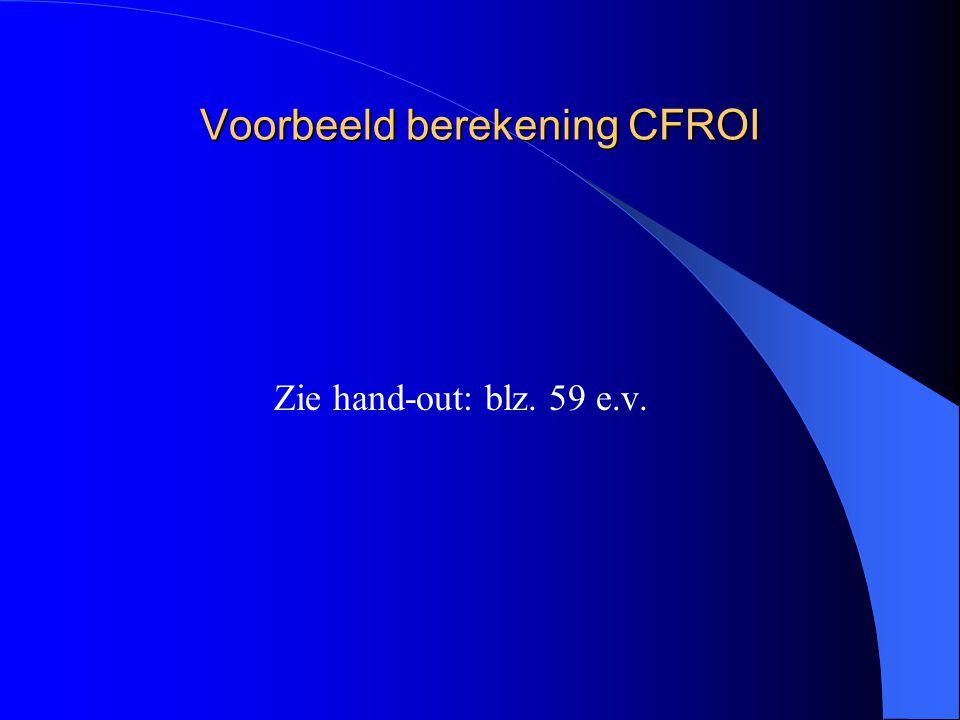 Voorbeeld berekening CFROI