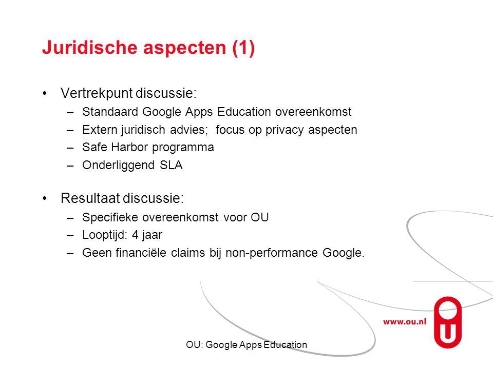 Juridische aspecten (1)