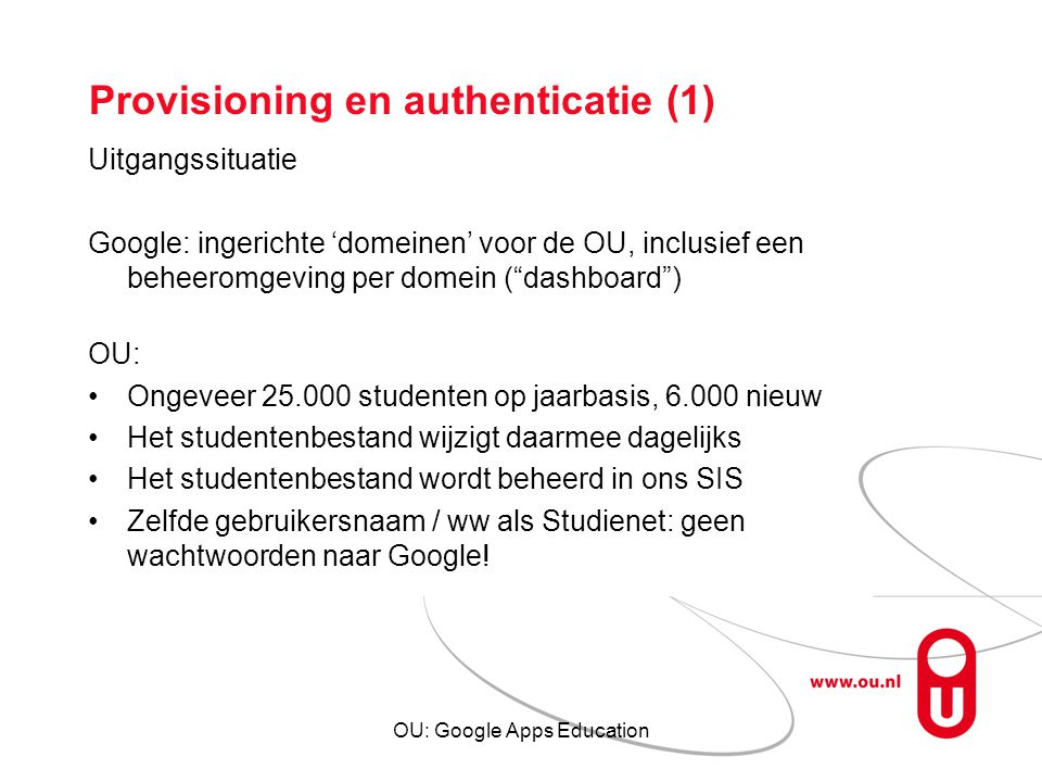 Provisioning en authenticatie (1)