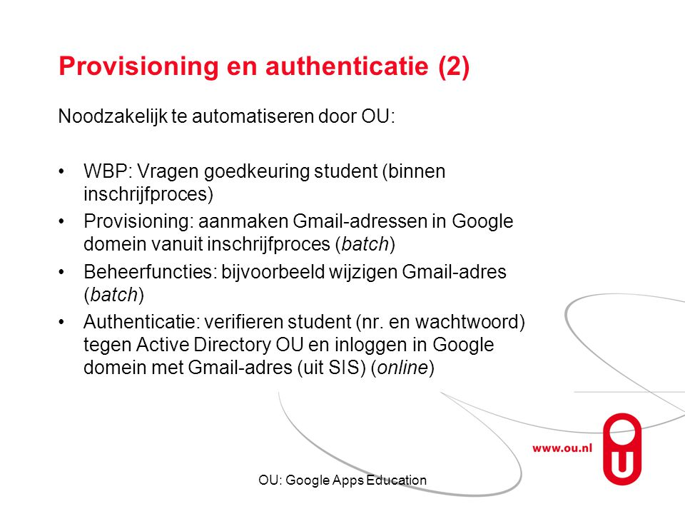 Provisioning en authenticatie (2)