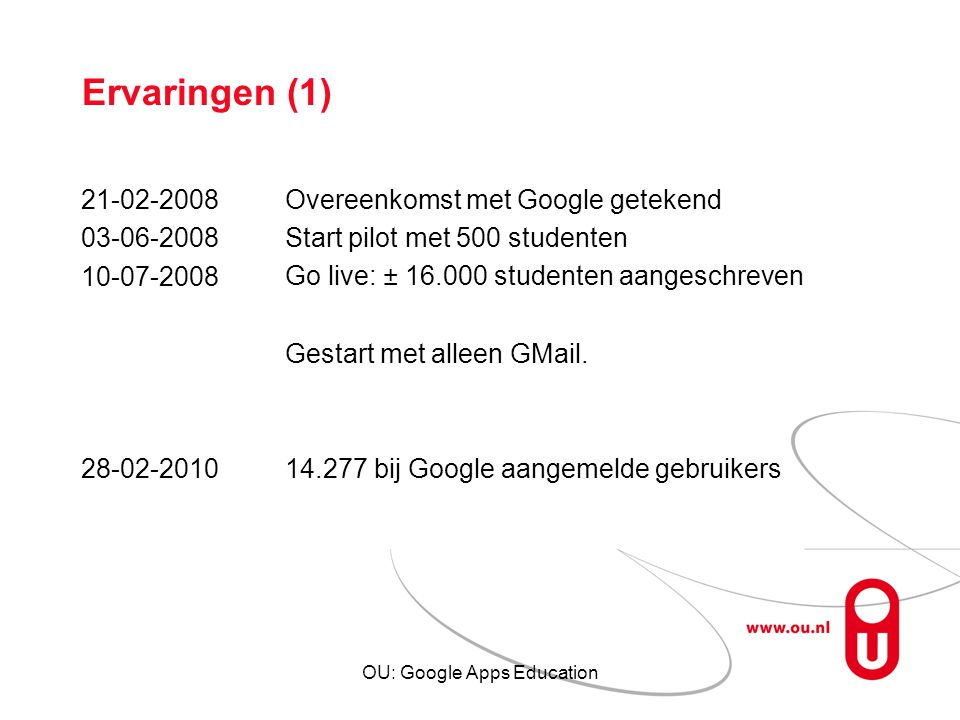 OU: Google Apps Education