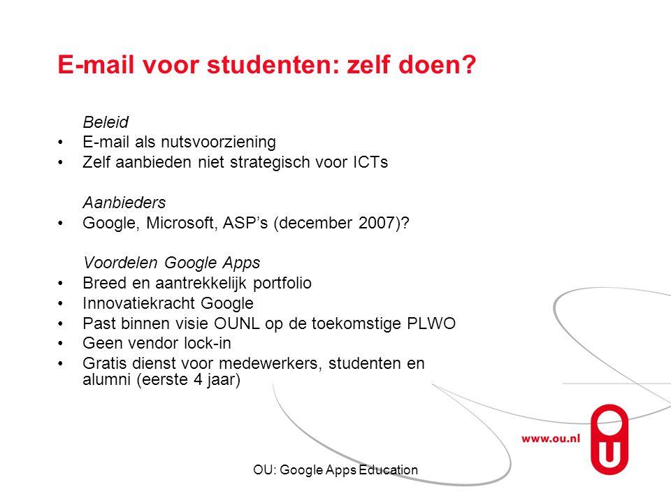 E-mail voor studenten: zelf doen