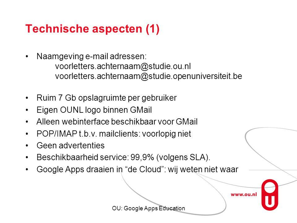 Technische aspecten (1)