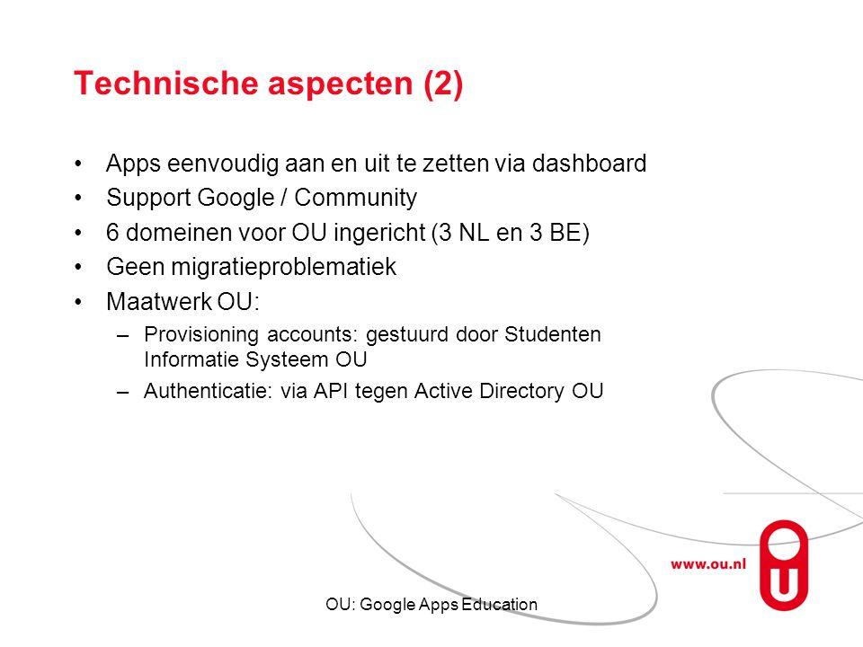 Technische aspecten (2)