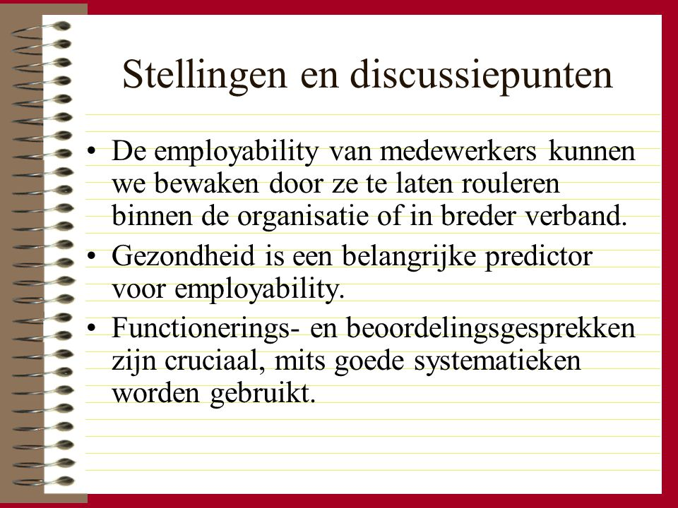 Stellingen en discussiepunten
