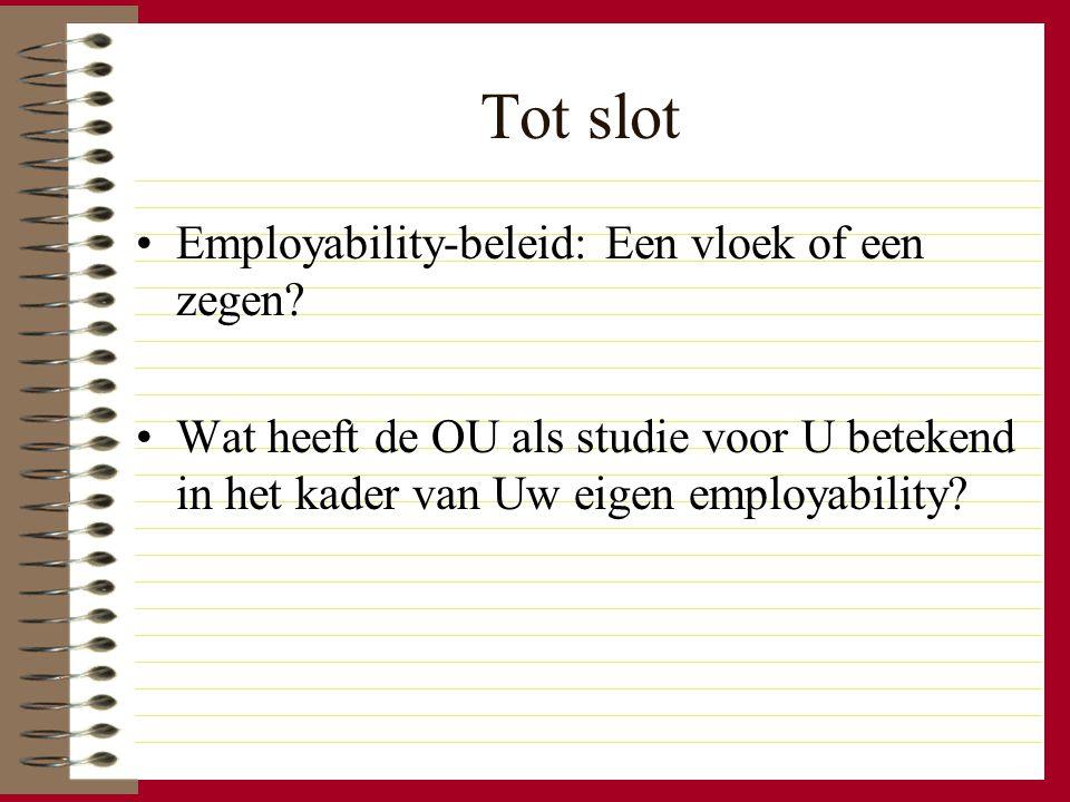 Tot slot Employability-beleid: Een vloek of een zegen