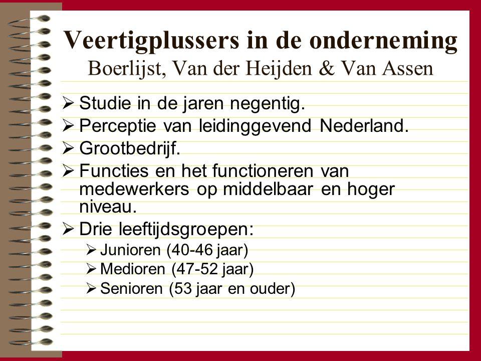 Veertigplussers in de onderneming Boerlijst, Van der Heijden & Van Assen