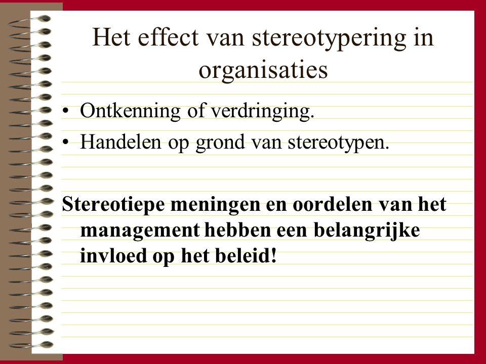 Het effect van stereotypering in organisaties