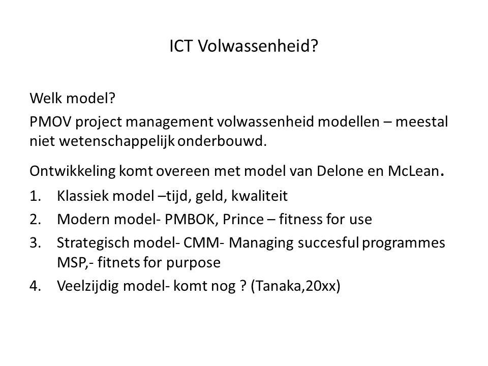 ICT Volwassenheid Welk model