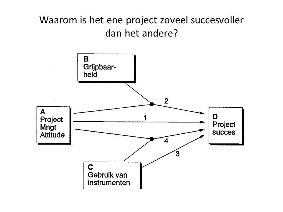 Waarom is het ene project zoveel succesvoller dan het andere