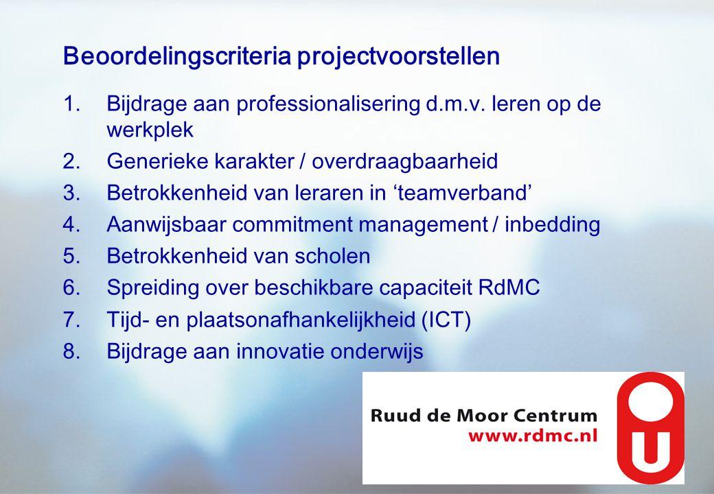 Beoordelingscriteria projectvoorstellen