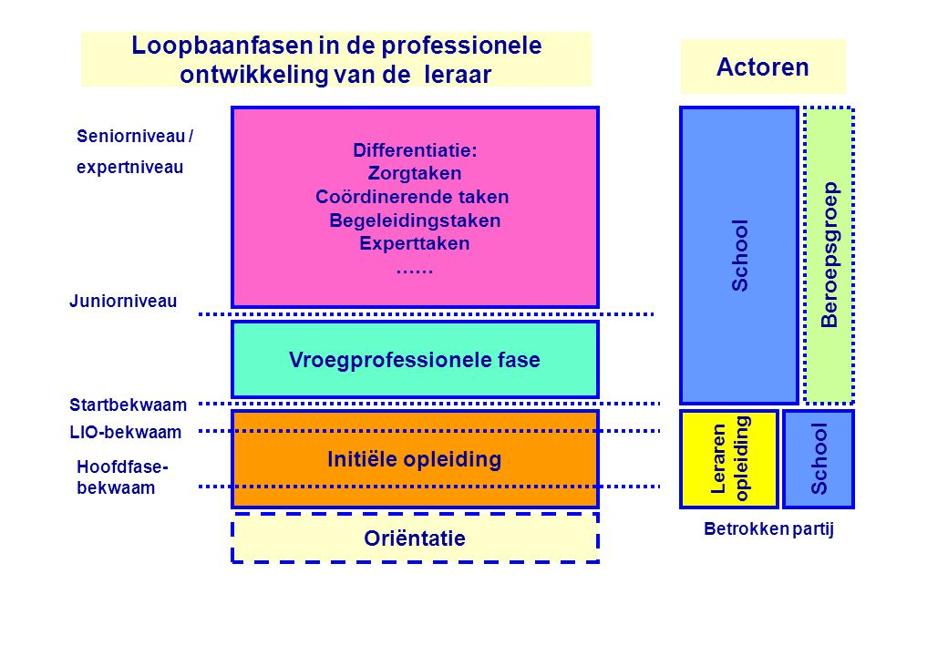 Loopbaanfasen in de professionele ontwikkeling van de leraar